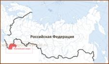 Каспийское море на карте России