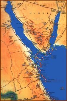 Туристическая карта Красного моря