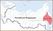Охотское море на карте России