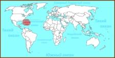 Саргассово море на карте мира