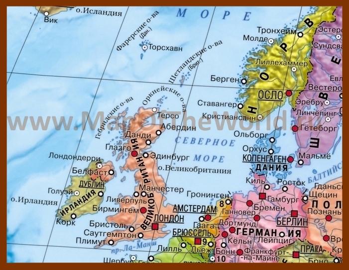 Где на карте находится северное море