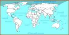 Северный-Ледовитый океан на карте мира