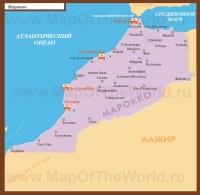 Курорты Морокко на карте