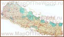 Подробная карта Непала