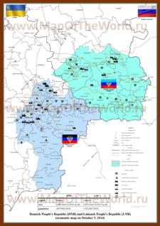 Экономическая карта ДНР и ЛНР