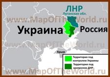Границы ДНР на карте Украины и России