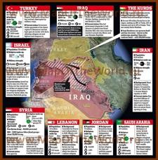 Информационная карта ИГИЛ и вовлеченных в конфликт государств