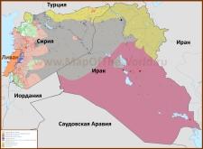 Карта ИГИЛ сегодня