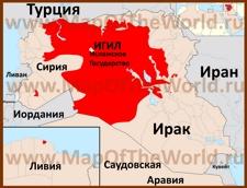 Территория ИГИЛ на карте