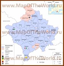 Этническая карта народов Косово