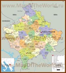 Политическая карта Косово