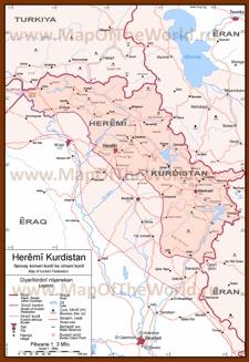 Карта Иракского Курдистана