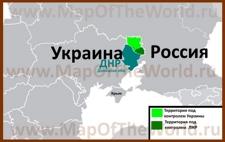Границы ЛНР на карте Украины и России