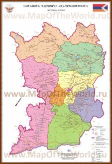Подробная карта Нагорного Карабаха