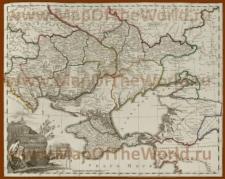 Историческая карта Новороссиийской губернии Российской империи 1800 года