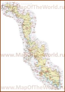 Подробная карта Приднестровья с городами