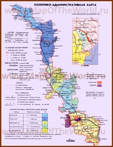 Политическая карта Приднестровья