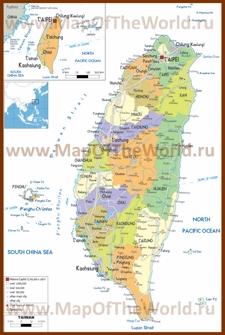 Политическая карта Тайваня