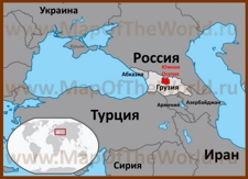 Южная Осетия на карте России и мира
