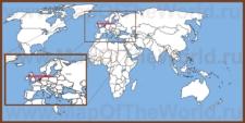 Нидерланды на карте мира и Европы