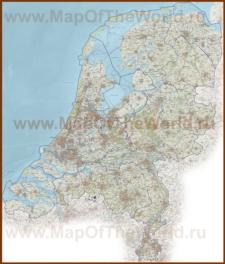 Подробная карта Нидерландов