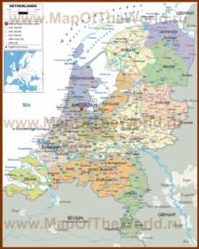 Политическая карта Нидерландов
