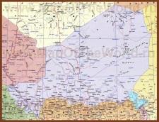 Подробная карта Нигера