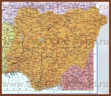 Карта Нигерии на русском языке