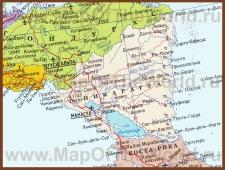 Карта Никарагуа на русском языке