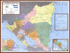 Подробная карта Никарагуа