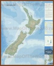Подробная карта Новой Зеландии