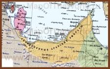 Карта ОАЭ на русском языке