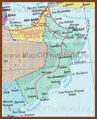 Карта Омана на русском языке