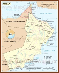 Подробная карта Омана