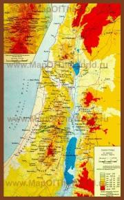 Карта древней Палестины времен Иисуса Христа