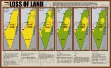 Карта изменения территории Палестины