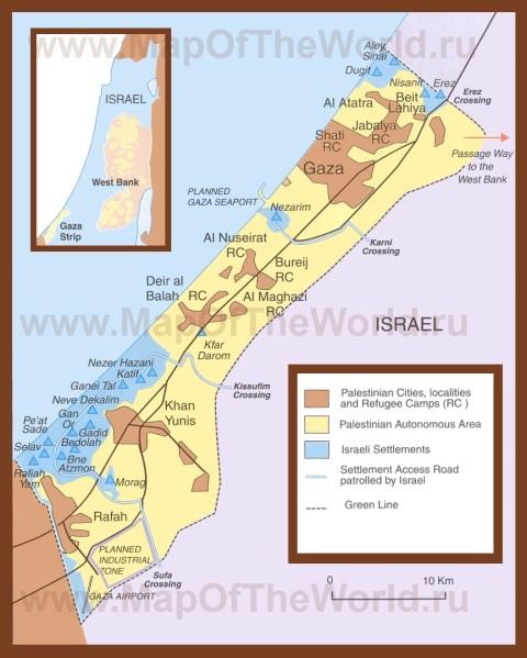 Все карты палестины