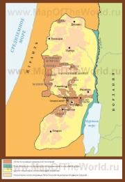 Карта Западного берега реки Иордан