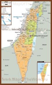 Политическая карта Палестины