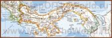 Подробная карта Панамы