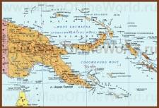Карта Папуа — Новой Гвинеи на русском языке