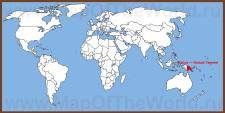 Папуа — Новая Гвинея на карте мира
