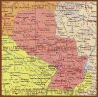 Карта Парагвая на русском языке