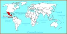 Центральная Америка на карте мира