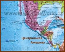 Карта стран Центральной Америки