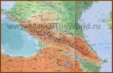 Карта Северного Кавказа