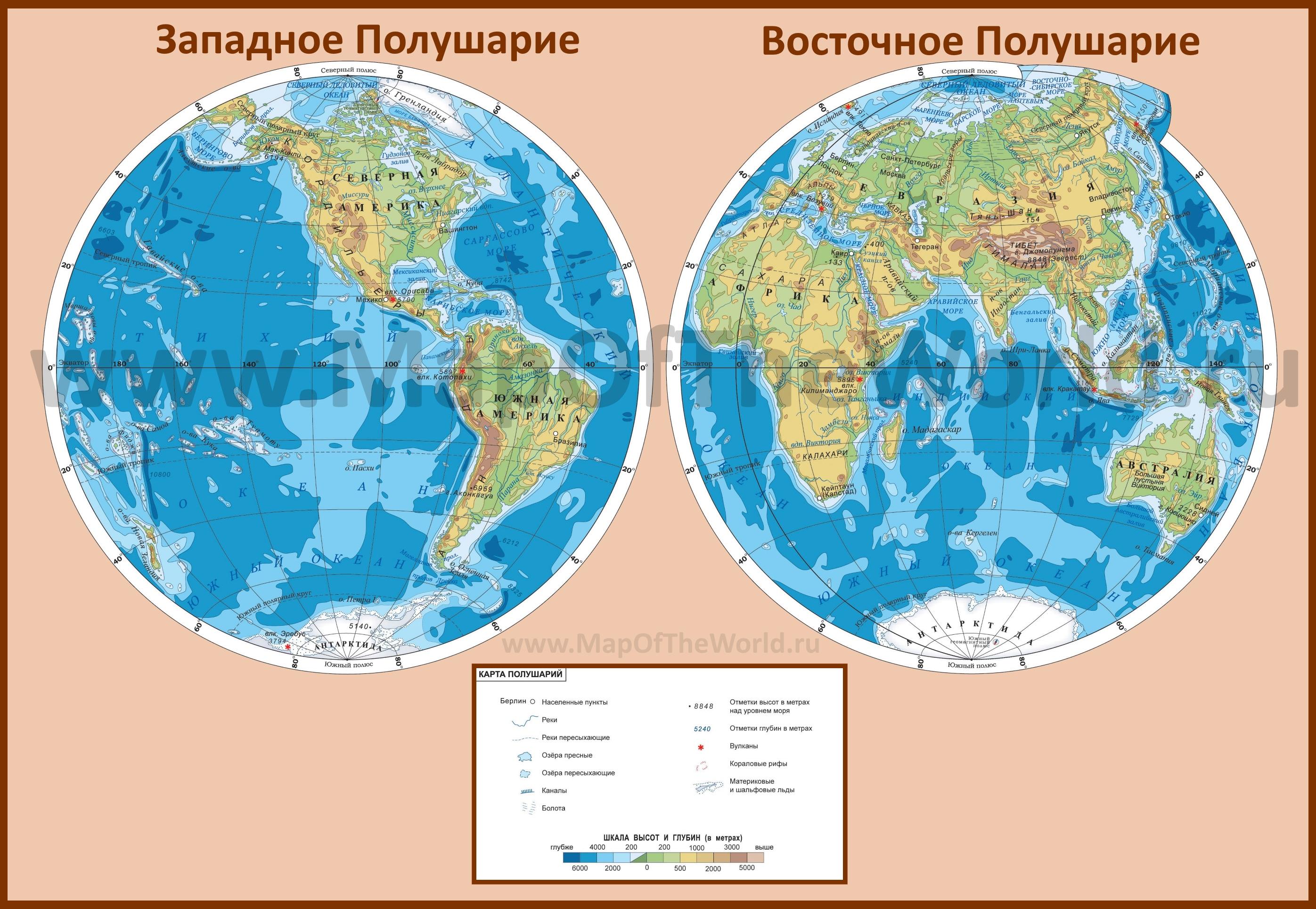 Где на карте полушарий находится гренландия на карте полушарий
