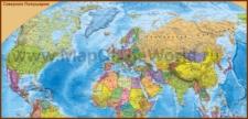 Политическая карта Северного Полушария со странами