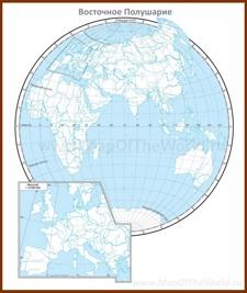 Контурная карта Восточного Полушария