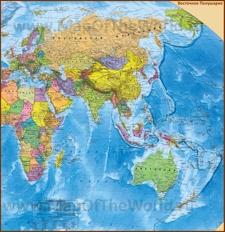 Политическая карта Восточного Полушария со странами